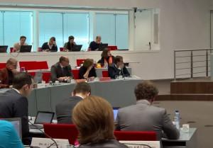 v.l.n.r. Frans Lugtmeijer (VVD), Esther Grondijs (PvdA-GL-LS) en Rein Kroon (CDA)